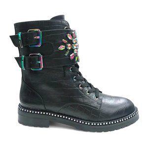 Kurt Geiger Stoop Bootie Black Leather Sz 6.5
